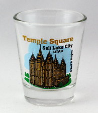 SALT LAKE CITY UTAH TEMPLE SQUARE SHOT GLASS SHOTGLASS
