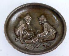 Belle COUPELLE / VIDE-POCHE en Bronze avec Décor de Personnages