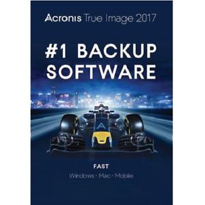 Acronis True Image 2017 - Perpetual / 1-Device - Backup Software - Digital Key