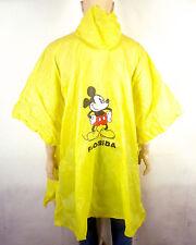 vtg 70s 80s retro Pvc Rain Poncho Coat Jacket Mickey Mouse Disney sz Osfa