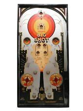 VINT 1930'S BIG SHOT 'GOTHAM' LITHO'D/PAINTED TIN PINBALL BAGATELLE GAMEBOARD