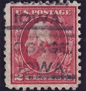 US #463 var Lake w/ strong color. Scarce color variety. CVE $500+