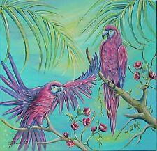 Acrylmalerei Christiane Schwarz; KARIBISCHES FLAIR  80x80cm  KUNST BILD ORIGINAL