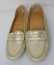 Sperry Top-Sider Womens Shoe Gold Cup 6 M Snake Metallic Penny Driver STS91205