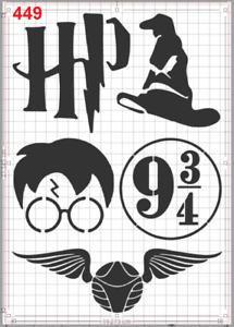Harry Potter emblem set Stencil MYLAR A4 sheet strong reusable Art Craft Deco