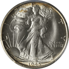 1945-S Walking Liberty Half PCGS MS66 Superb Eye Appeal Fantastic Luster