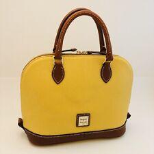 Dooney & Bourke Lemon Gold Pebble Grain Leather Satchel Purse Hand Bag NEW