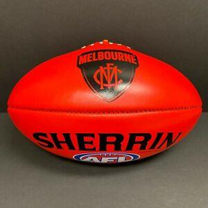 AFL MELBOURNE DEMONS SHERRIN AUSTRALIAN LEATHER FOOTBALL Red Premiers Gawn