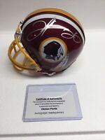 Clinton Portis Autographed NFL Washington Redskins Riddell Mini Football Helmet