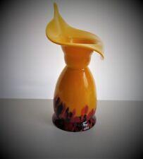 Anni 1960 Murano/Stile Ceco Calla Lily ART GLASS Vaso.