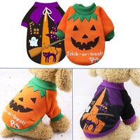 New Pet Dog Cat Puppy Halloween Clothes Costume Vest Sweatshirts Coat Apparel--