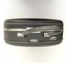 "Vtg Olive 16"" American Tourister Tiara Round Hat Box Case Luggage Suitcase Gray"