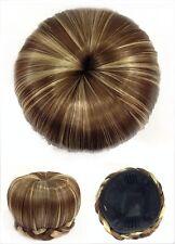 Hair Bun, Perfect Braided, Hair Piece, Brown With Blond Stricks.