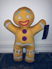 "12"" New Gingy Gingerbread Man Shrek 3rd Dreamworks Toy Factory Plush Doll Cookie"