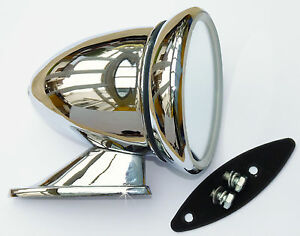 Racing Chrome Bullet Style Wing / Door Mirror for MG, Mini, Austin, Triumph etc