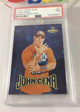 John Cena 2010 Topps Wwe Rumble Pack Blue Foil Insert #1 Psa 7 Low Pop