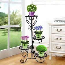 Metal Outdoor Indoor Pot Plant Stand Garden Decor Flower Rack Wrought Iron USA