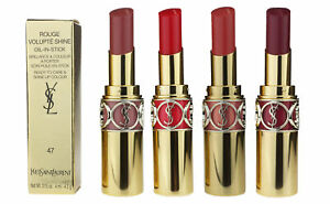 YSL Rouge Volupte Shine Oil-In-Stick 0.15oz/4ml New In Box (Chosse Your Shade)