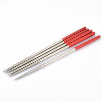 Glass Stone Carving Metal Diamond Coated Round Rasp Needle File 160 x 4mm 5pcs