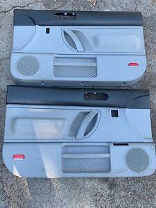 98-10 VW Volkswagen Beetle Left Right Power Door Panels SET Black / Gray