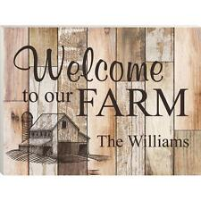 """Personalized Laser Engraved MDF Wood Sign, WELCOME TO OUR FARM 16"""" x 12"""""""
