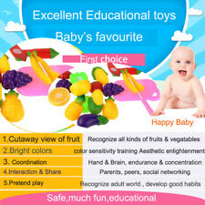 11 PCS CHILDREN PRETEND PLAY CUT FRUIT EARLY CHILD DEVELOPMENT EDUCATIONAL TOY