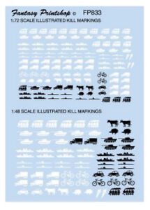 Illustrated Aircraft Kill Markings (1/72 & 1/48 decals, Fantasy Printshop 833)