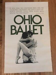 Vintage OHIO BALLET Company POSTER ballerina dance theater
