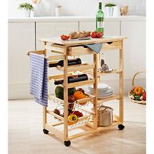 Carrello da cucina con Cuisina costruzione di pino massello con top affiancate.
