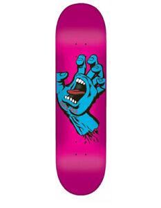 "SANTA CRUZ SKATEBOARDS - SCREAMING HAND DECK - 7.8"" PINK MATTE - FREE GRIP NEW"