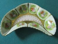 Arnart Japan jewelry dish decorated with Fragonard paintings & gold accents [88b