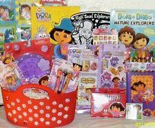 NEW DORA EASTER TOY GIFT BASKET birthday TOYS ART PLAYSET BOOK gift set
