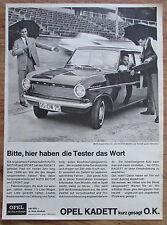 OPEL KADETT original Zeitungswerbung aus 1963 Werbung Reklame