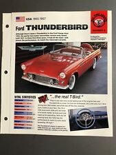 "1955 - 1957 Ford Thunderbird IMP ""Hot Cars"" Spec Sheet / Folder Brochure Awesome"