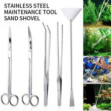 5 in 1 Aquarium Tool Kit Aquascaping Aquatic Plant High Quality Tweezers Scissor