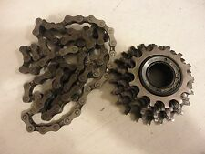 Shimano Dura-ace MF 7400 freewheel cassette 14 22 cogs sprockets SACHS chain VGC