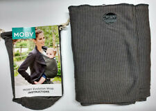 Authentic MOBY EVOLUTION BAMBOO Baby Wrap/Carrier-GRAY STRIPE-Great for newborns