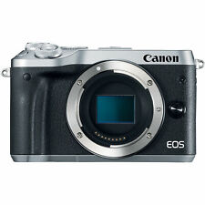 New Canon EOS M6 Mirrorless Digital WiFi NFC Bluetooth Camera - Body Only Silver