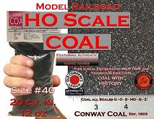 HO Scale Coal #40 For Model Railroad Hopper Loads Athearn Atlas Bowser Walthers