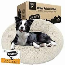 Active Pets Plush Calming Dog Bed Donut Dog Bed for Small Dogs Medium & Large.
