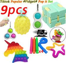 9Stk Fidget Sensory Toys Zappeln Spielzeug Set Stressabbau ADHS Simple Dimple