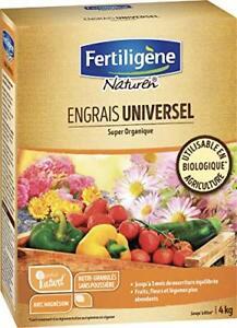 Engrais Universel Biologique 4 kg - Fruits/Légumes/Fleurs/Arbres/Arbustes 3 Mois