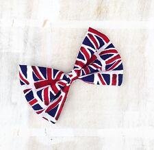 Union Jack, Great Britain flag hair bow - Wimbledon, Vintage, England