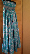 LADIES SIZE 10 SUNDRESS ADJUSTABLE STRAPS FULL SKIRT  incl HALF SLIP