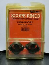 Millett Scope Rings, Low, Smooth, 1 inch, Turn-In Style Sr00001