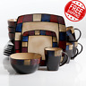 Modern Dinnerware Set Plate Bowl Cups Mugs 16-Piece Serving Dishes Kitchenware