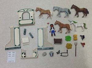 PLAYMOBIL GEOBRA - EQUESTRIAN HORSES STABLES - ACCESORIES SPARES REPAIRS FROM £1