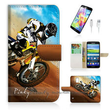 ( For Samsung S5 ) Wallet Case Cover! Motocycle Bike P0043
