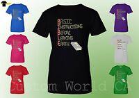 Women T-Shirt - Basic Instructions Before Leaving Earth God Religious Shirts XT