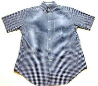 Orvis Mens Blue Plaid Front Pocket Button Front Shirt Size Medium